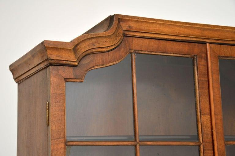Antique Burr Walnut Bookcase For Sale 3