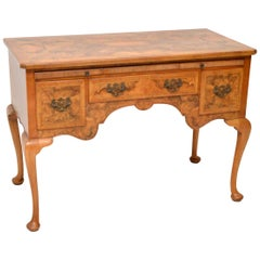Antique Burr Walnut Desk or Writing Table or Dressing Table