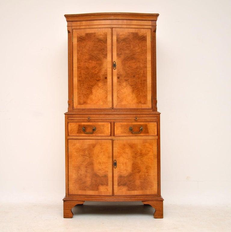 Antique Burr Walnut Drinks Cabinet For Sale At 1stdibs