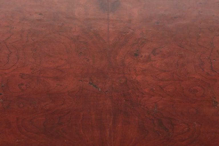 Antique Burr Walnut Freestanding Writing Desk 7