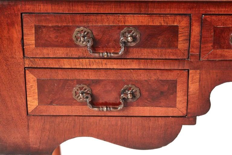 Victorian Antique Burr Walnut Freestanding Writing Desk