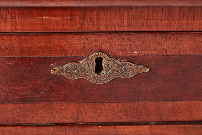 European Antique Burr Walnut Freestanding Writing Desk