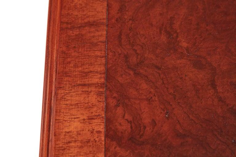 Antique Burr Walnut Freestanding Writing Desk 2