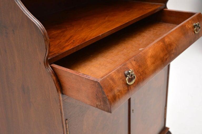Mid-20th Century Antique Burr Walnut Open Bookcase Cabinet For Sale