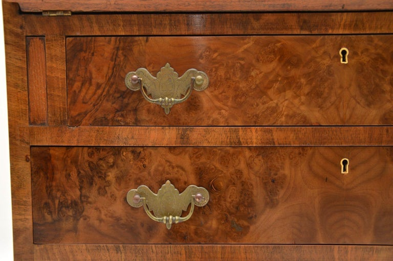 Antique Burr Walnut Writing Bureau For Sale 4