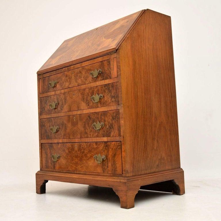 Antique Burr Walnut Writing Bureau For Sale 6