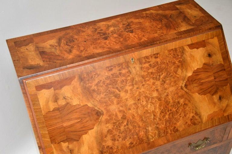 Antique Burr Walnut Writing Bureau For Sale 7