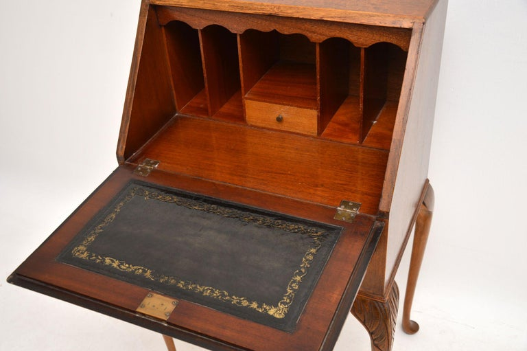 Mid-20th Century Antique Burr Walnut Writing Bureau For Sale