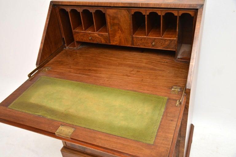 Antique Burr Walnut Writing Bureau For Sale 1