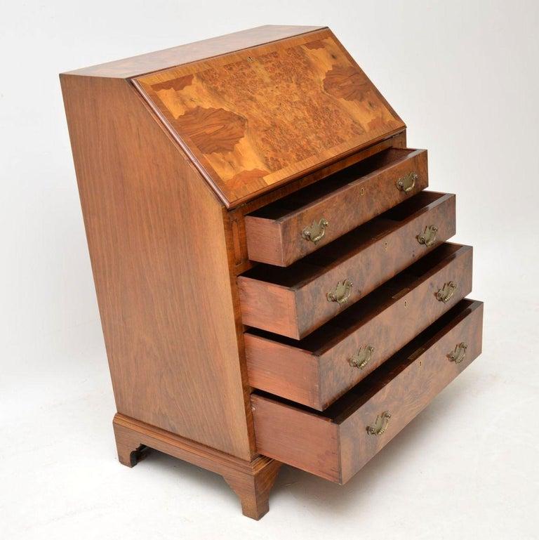 Antique Burr Walnut Writing Bureau For Sale 2