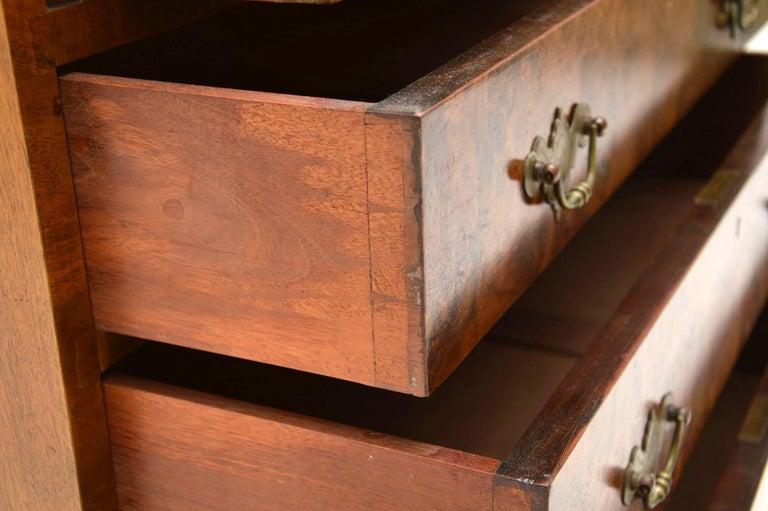 Antique Burr Walnut Writing Bureau For Sale 3