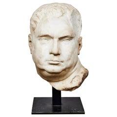 Antique Bust of Roman Emperor Vitellius