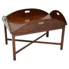 Antique Butler Tray Top Coffee Table