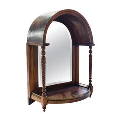 Antique Butler's Mirror, English, Rosewood, Dome Top, Wall, Victorian circa 1880