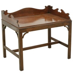 Antique Butlers Tray on Stand