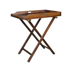 Antique Butler's Tray Table, English, Mahogany, Folding Stand, circa 1900