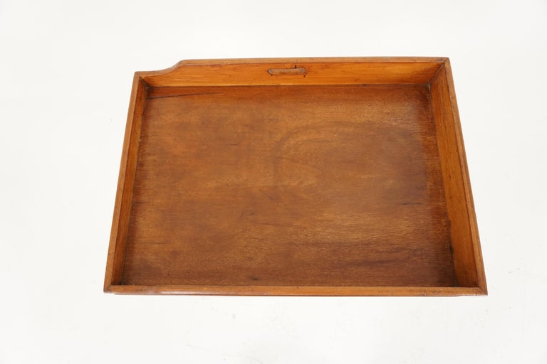 Antique Butler's Tray, Victorian walnut drinks tray or stand, Antique Furniture, Scotland 1870, B2034