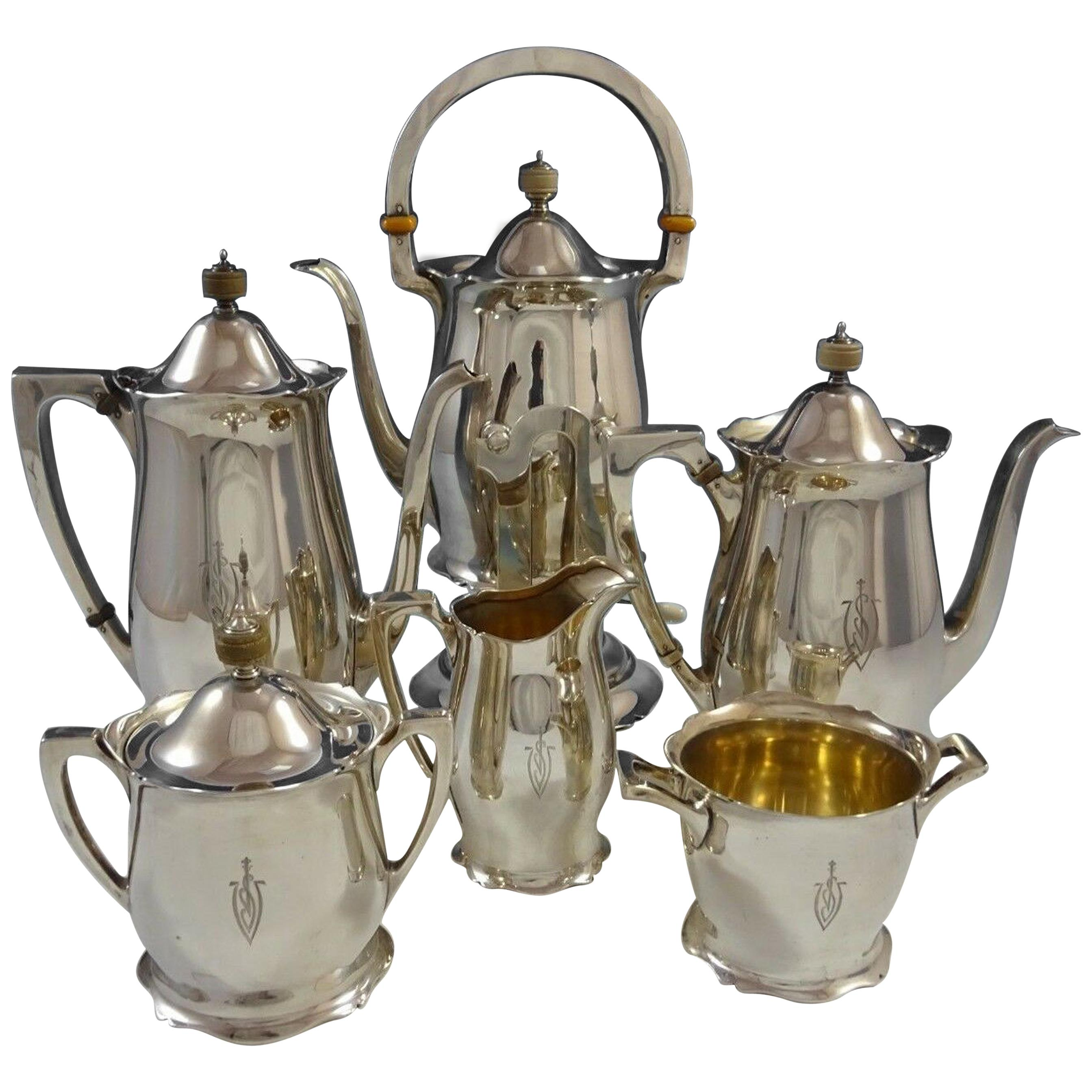 Antique by Wallace Sterling Silver Tea Set 6-Piece #3370