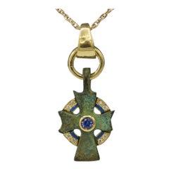 Antique Cross Authentic 1,500 -Year-Old Byzantine Period Cross 18 Karat Gold