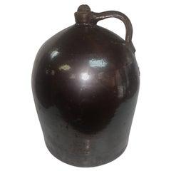 Antique c1860 Large Brown Glazed Jug