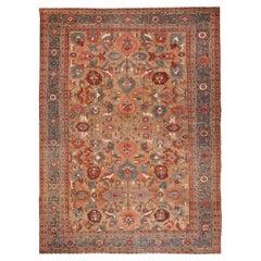 Antique Camel Hair Persian Bakshaish Rug