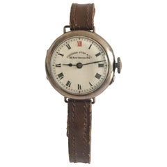Antique Camerer Cuss & Co. Silver Trench Watch