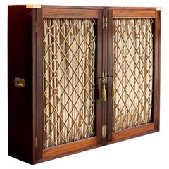 Antique Campaign Bookcase Mahogany Folding Victorian, circa 1840