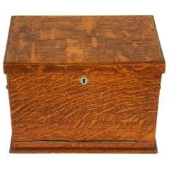 Antique Campaign Box, Stationary Box, Victorian Writing Box, Oak Desk, B1703