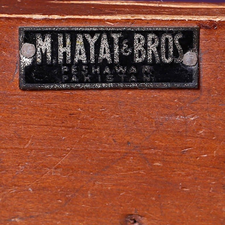 Antique Campaign Rosewood Chest by M. Hayat & Bros For Sale 4