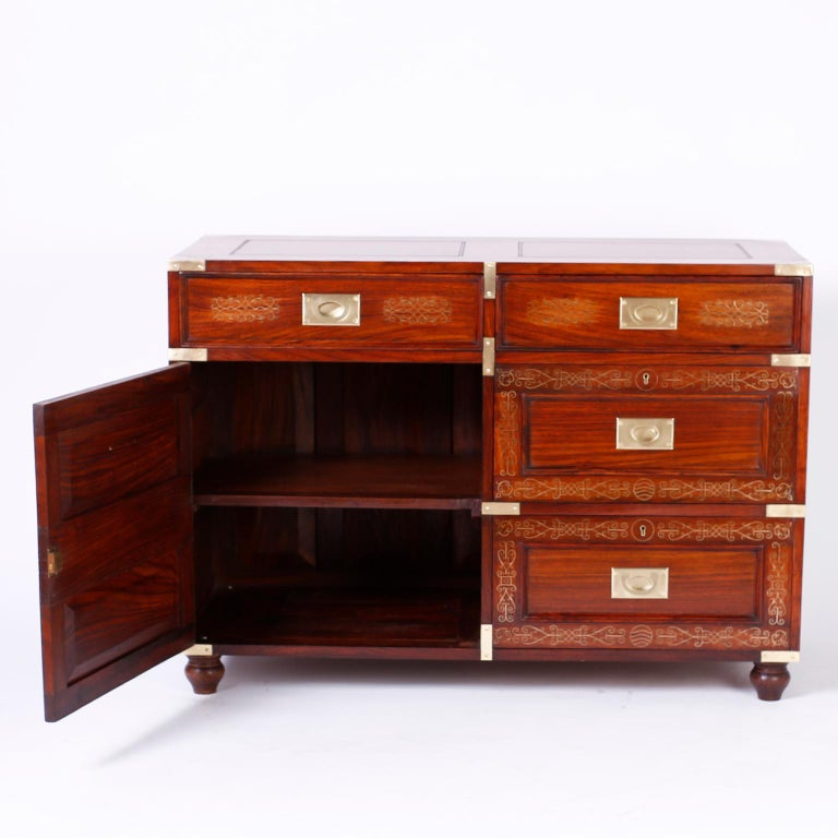 Antique Campaign Rosewood Chest by M. Hayat & Bros For Sale 1