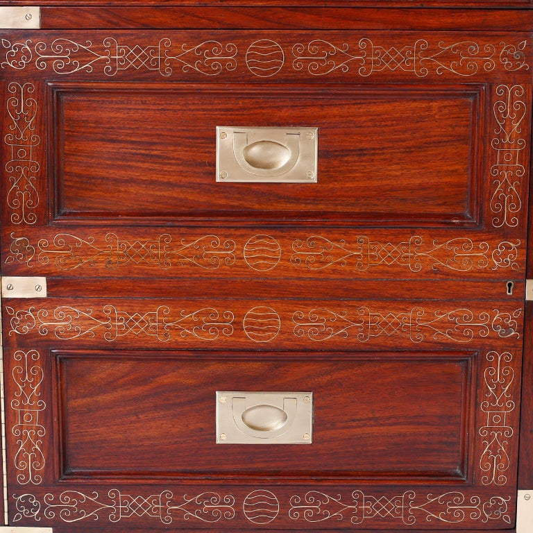 Antique Campaign Rosewood Chest by M. Hayat & Bros For Sale 2
