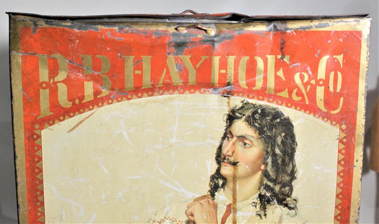 Antique Canadian General Store R.B. Hay Hoe & Co. Tea Advertising Display Tin For Sale 3