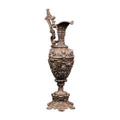 Antique Candelabra, French, Spelter, Candlestick, Ewer, Victorian, Circa 1900