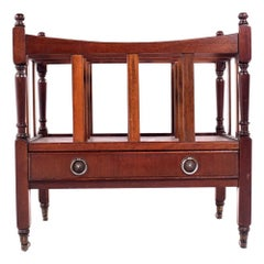 Antique Canterbury, Mahogany Magazine Rack