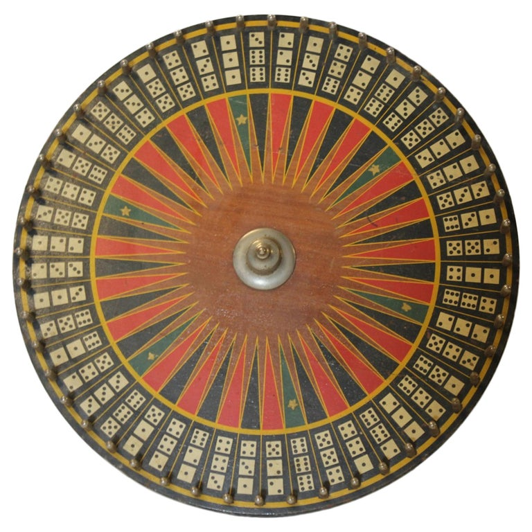Antique Carnival Game Wheel For Sale