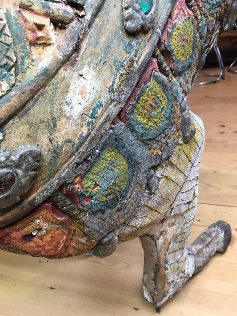 Antique Carousel Horse by Karl Müller Germany, Hand-Carved wood, Late 19th Cent For Sale 5
