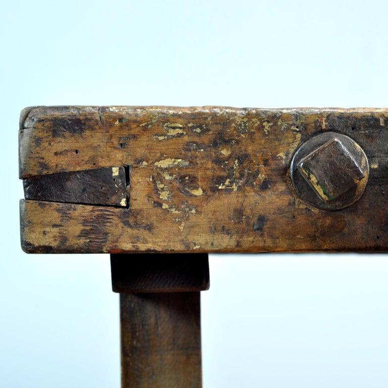 Antique Carpenters Oak Workbench, circa 1910 For Sale 5
