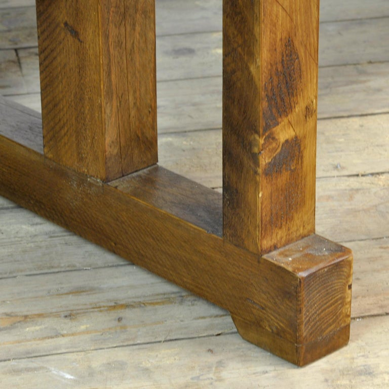 Antique Carpenters Oak Workbench, Circa 1910 For Sale 7
