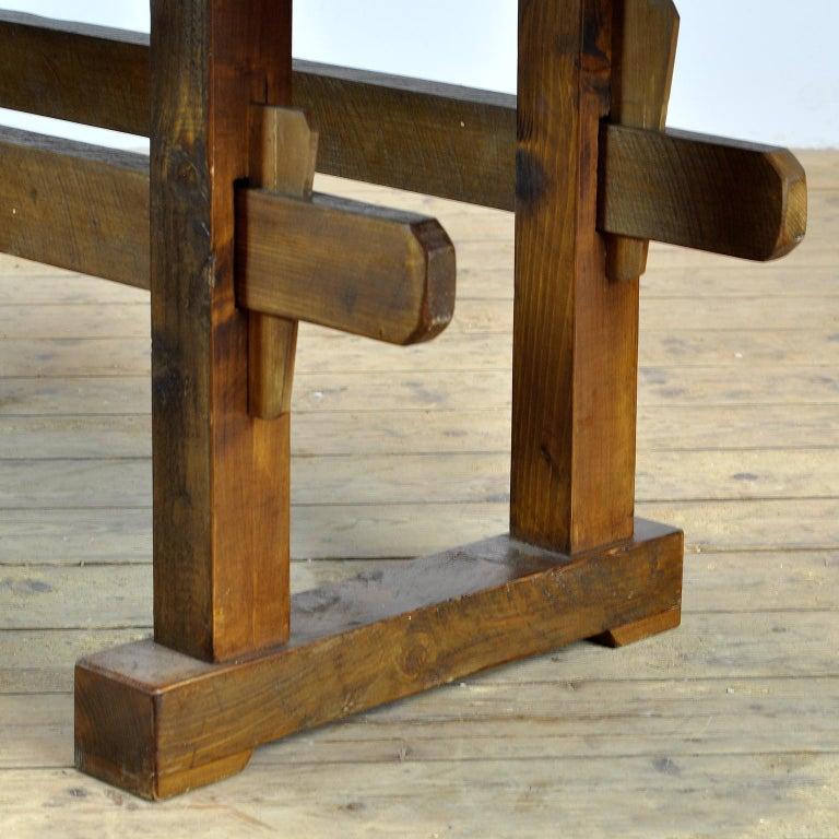 Antique Carpenters Oak Workbench, circa 1910 For Sale 10