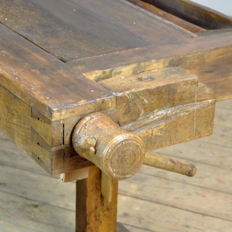 Antique Carpenters Oak Workbench, Circa 1910 For Sale 2