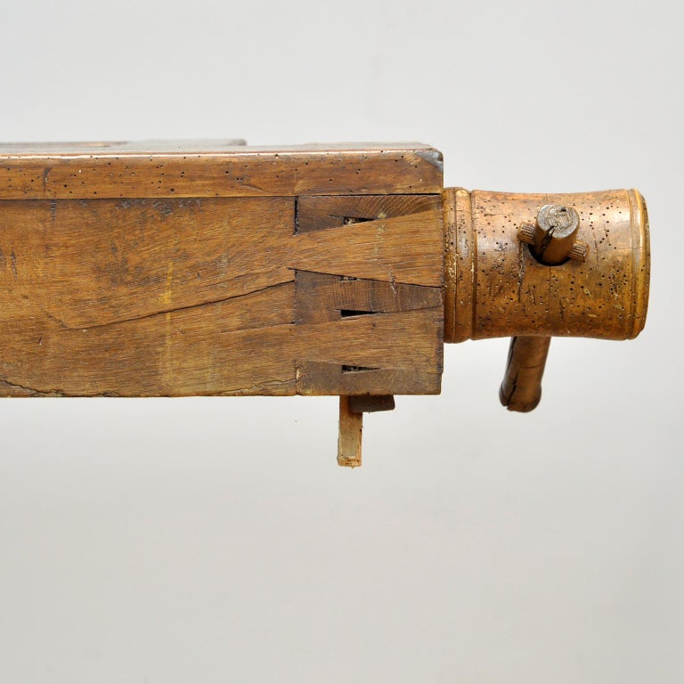 Antique Carpenters Oak Workbench, Circa 1910 For Sale 3