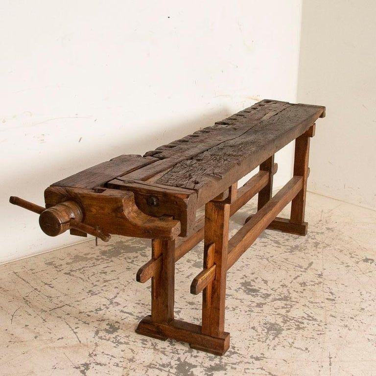 Danish Antique Carpenter's Work Bench Work Table, Denmark