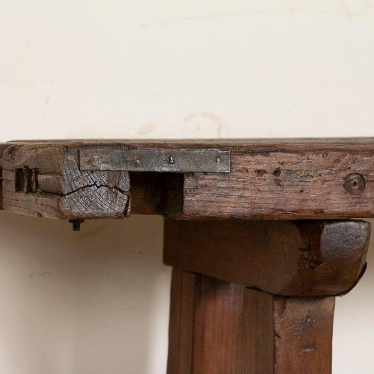Wood Antique Carpenter's Work Bench Work Table, Denmark