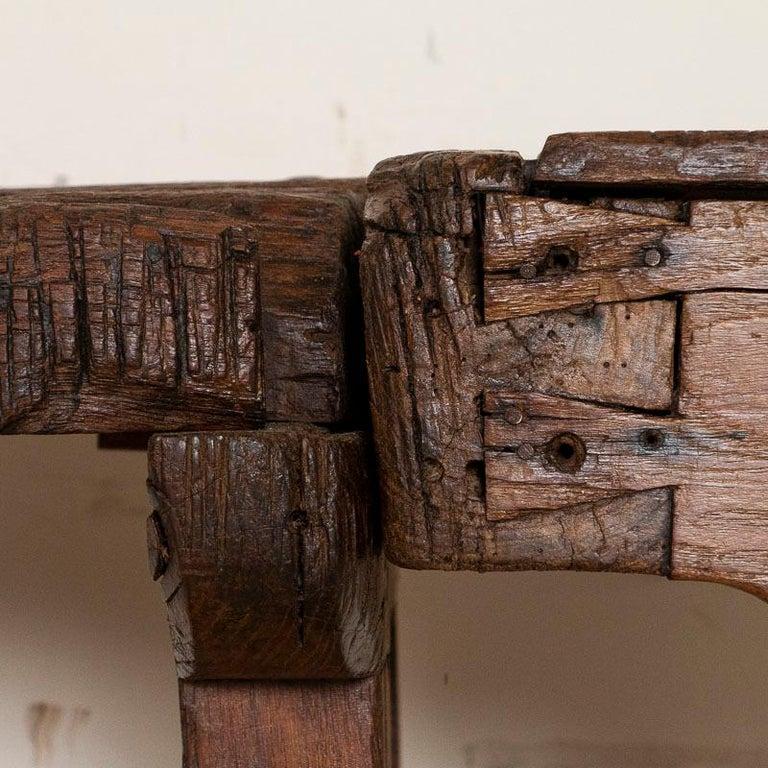 Antique Carpenter's Work Bench Work Table, Denmark 1