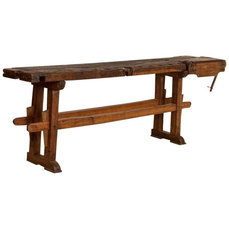 Antique Carpenter's Work Bench Work Table, Denmark