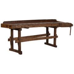 Antique Carpenter's Workbench / Console Table