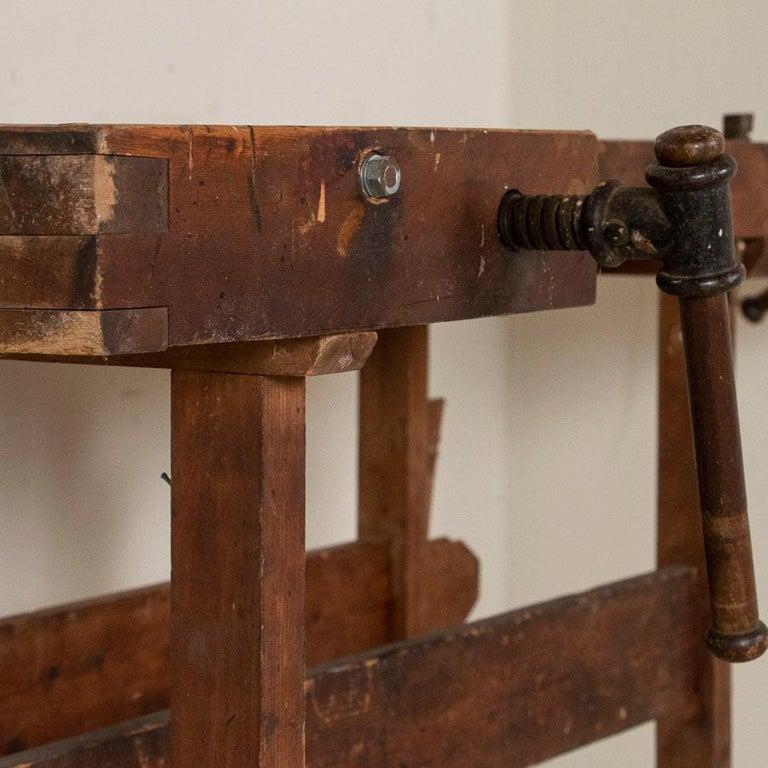 Danish Antique Carpenter's Workbench, Denmark