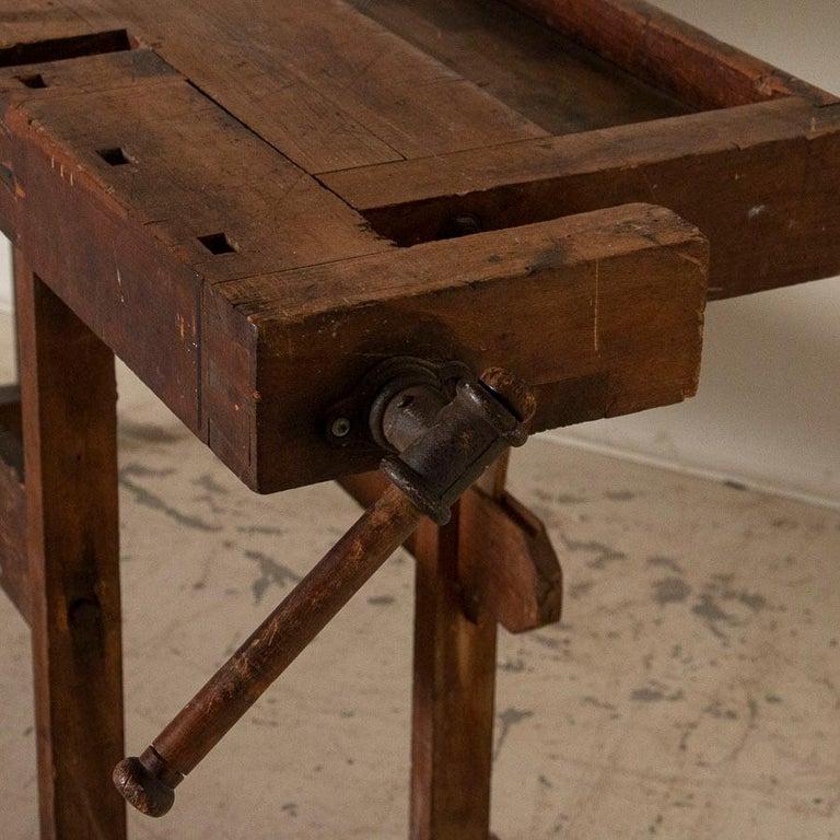 Antique Carpenter's Workbench, Denmark In Good Condition In Round Top, TX