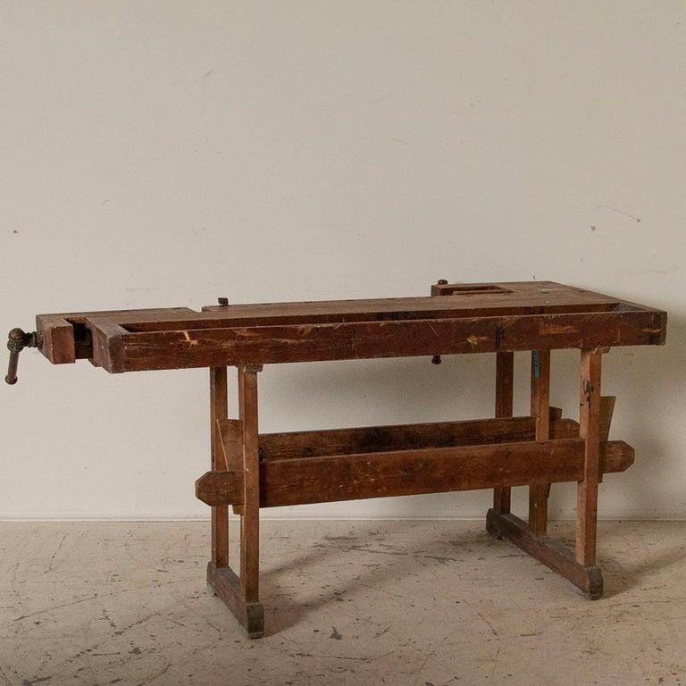 Wood Antique Carpenter's Workbench, Denmark