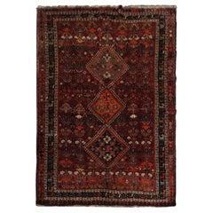 Antique Carpet Afghan Baluch Rug, 1950, Traditional Tribal Design Handmade Rug